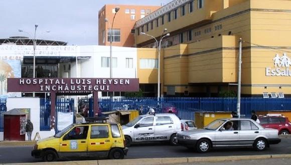 Paciente se rehusó a pasar diagnóstico de coronavirus en Hospital Luis Heysen de Essalud, en Chiclayo. (Agencia de Noticias Chiclayo)