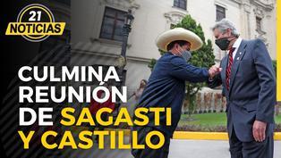 Presidente Sagasti mantuvo encuentro con presidente electo Castillo