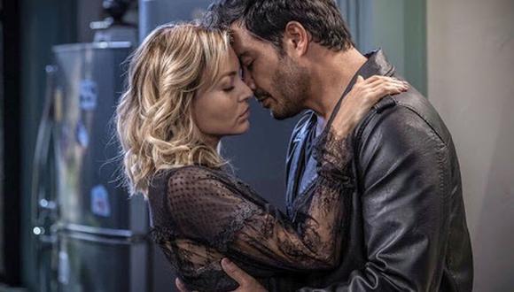 Andrés Palacios y Angelique Boyer han demostrado tener muy buena química en la telenovela Imperio de Mentiras (Foto: Captura video People en Español)