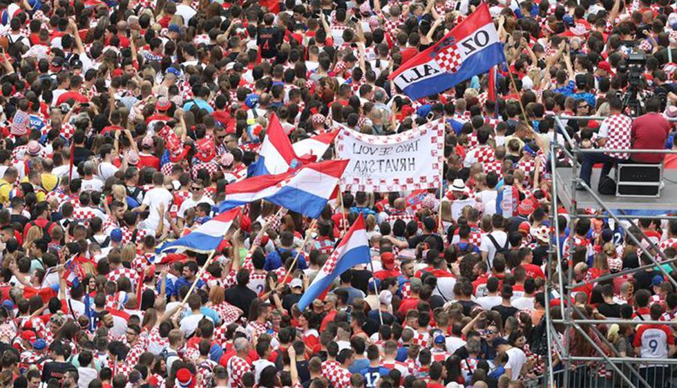 Hinchas de Croacia alistan multitudinario recibimiento en la Plaza Ban Jelačić de Zagreb (Foto: Narod.hr)