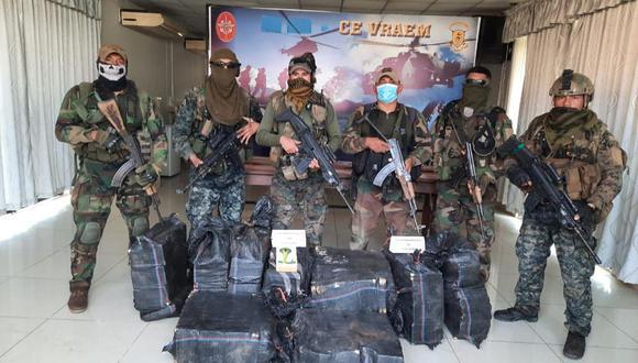 Cusco: las Fuerzas Armadas y la Policía Nacional se comprometieron a trabajar ininterrumpidamente en la lucha contra el tráfico ilícito de droga. (Foto: CCFFAA)