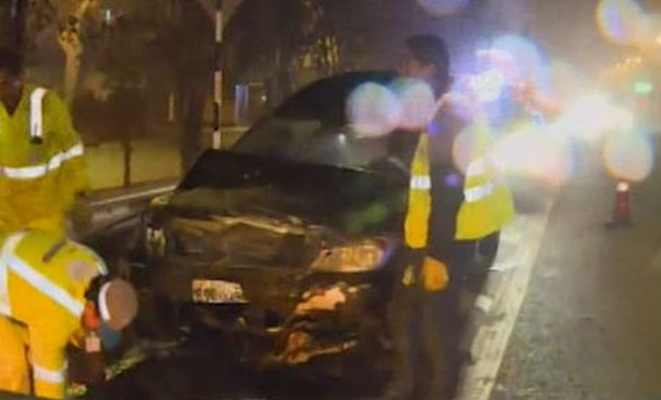 La imprudencia generó una serie de accidentes vehiculares. (Foto: Captura/América Noticias)