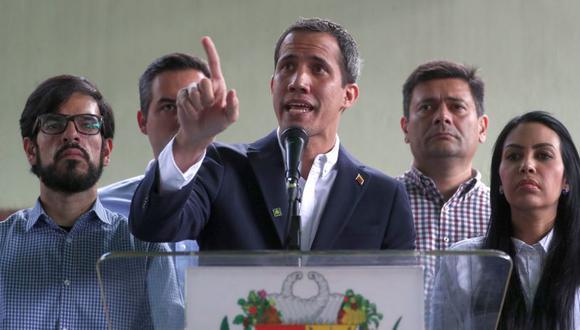 En tono desafiante, Guaidó responsabilizó de la captura a Nicolás Maduro. (Foto: EFE)