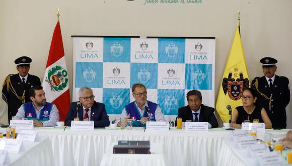 Alcalde Muñoz junto a integrantes del Coresec lanzan programa Lima 360° para combatir la inseguridad ciudadana (Foto: MML)