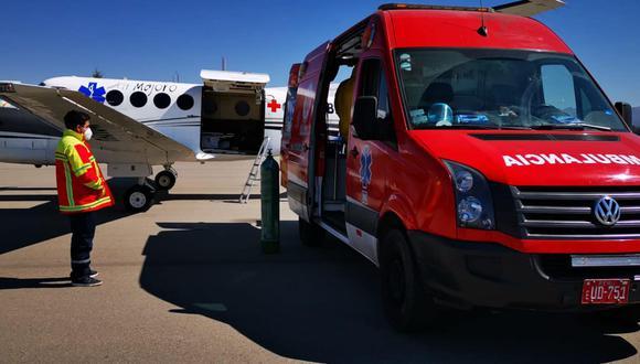 Huancavelica: médico delicado por COVID-19 abordó avioneta y fue trasladado a Lima (Foto: Gobierno Regional de Huancavelica)
