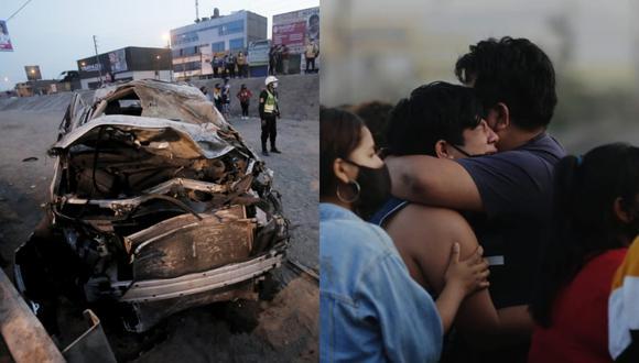 Accidente de tránsito ocurrió esta madrugada en Comas. (Foto: César Grados / @photo.gec)