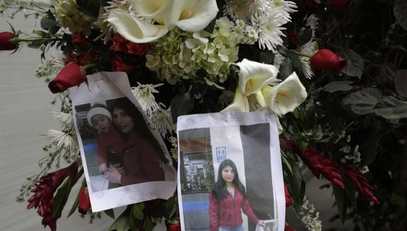 Eyvi Ágreda, víctima de feminicidio, fue enterrada hoy en medio de protestas contra la violencia hacía la mujer. (Luis Centurión/Perú21)