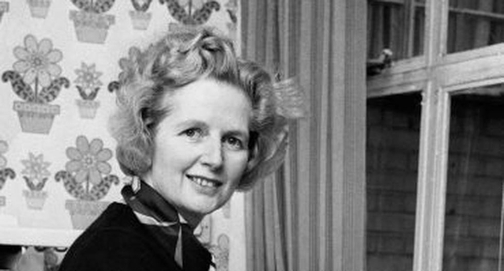 Una estampa familiar de Thatcher en su casa del barrio de Chelsea. (AP)