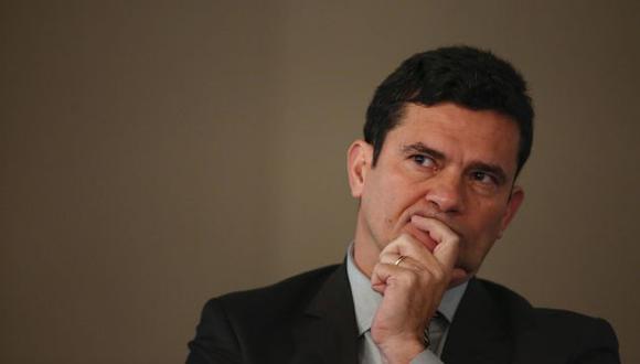 Sergio Moro, juez a cargo del caso Petrobras, es mostrado en una grabación citando frases de la lucha contra la corrupcíon (Efe)