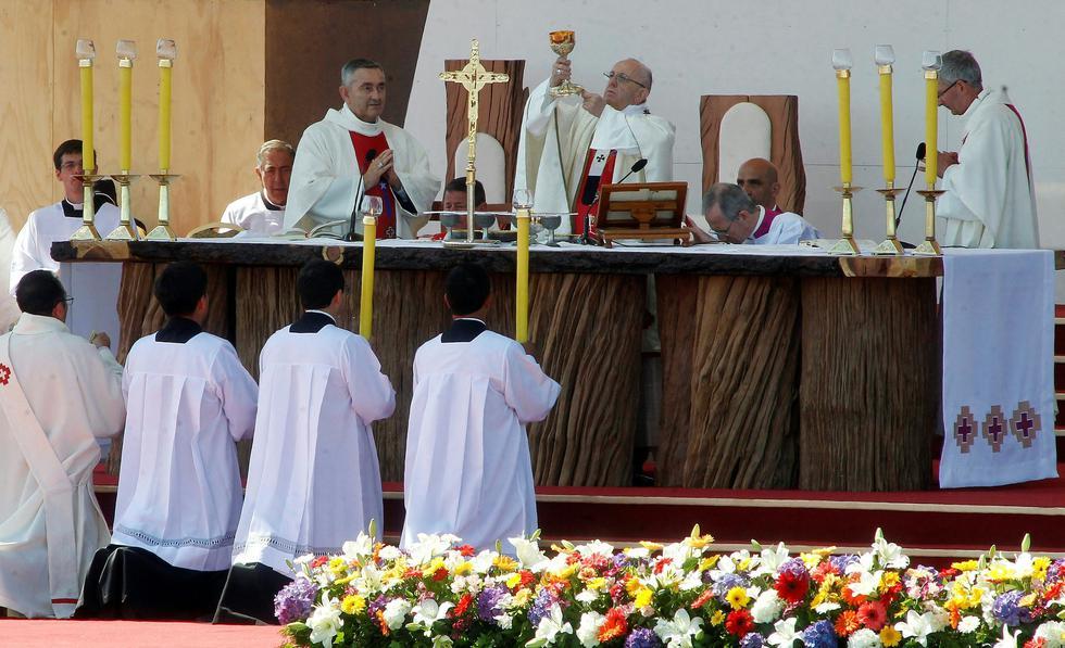 Papa Francisco en Chile (AFP)