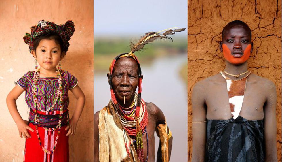 Una niña Ixil (Maya) | El triángulo Ixil, Guatemala - Una mujer de la tribu Karo | Korcho, Etiopía - Un hombre de la tribu Bodi El valle bajo del río Omo, Etiopía. (Alexander Khimushin)