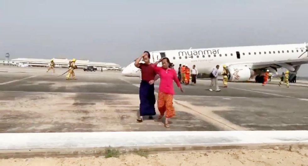 Myanmar Airlines   Embraer-190   Birmania: Según medios birmanos, la nave completaba un recorrido de Rangún hasta Mandalay. (Reuters)