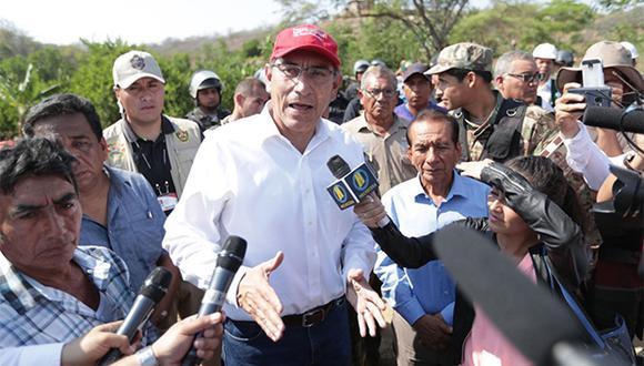 Martín Vizcarra declaró ante la prensa al realizar actividades en el Rímac. (Foto: Agencia Andina)