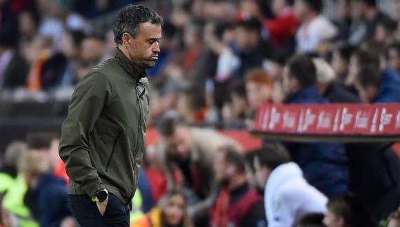 Luis Enrique no ha venido trabajando con la selección de españa y este miércoles renunció a ella. (Foto: AFP)