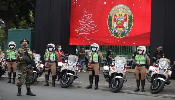 Policía Nacional lanzó plan de seguridad para Navidad y Año Nuevo. (Foto: Britanie Arroyo / @photo.gec)