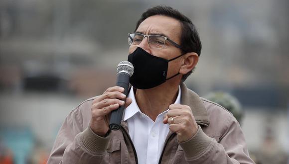 """""""El texto que ha sido aprobado ayer (lo) hemos pasado al Ministerio de Economía y Finanzas para que haga la evaluación correspondiente"""", dijo Vizcarra. (Foto: EFE)"""