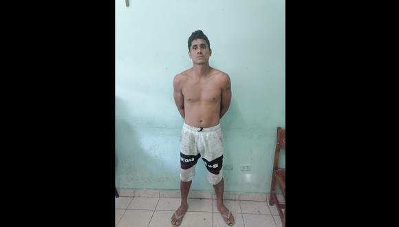 Tumbes: La Policía lo intervino en su vivienda, donde mostró resistencia, por lo que fue trasladado a la comisaría Andrés Araujo Morán. (Foto: PNP)