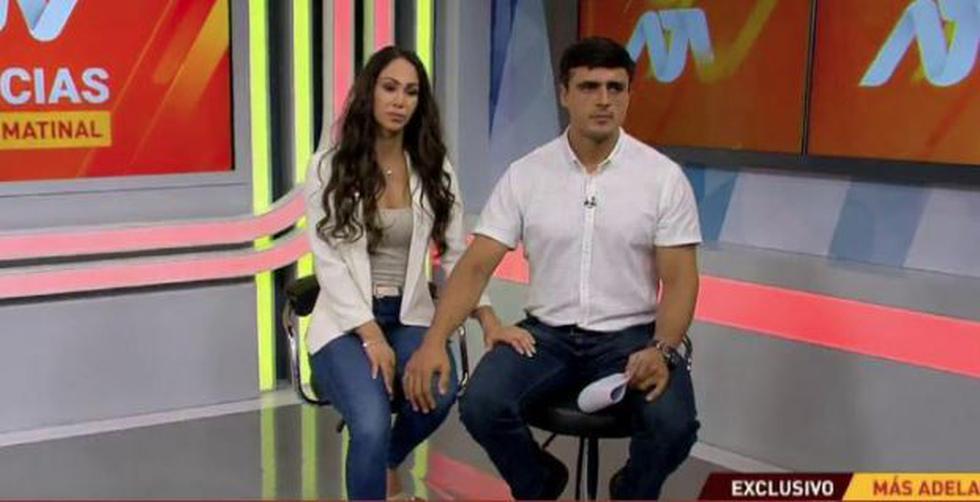 Ex chica reality se mostró incómoda en video, en donde se mostró desconcertada por actuación de su novio Juan Diego Álvarez. (ATV)