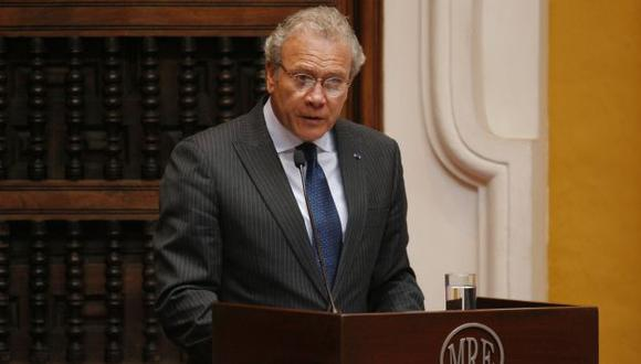 Canciller Gonzalo Gutiérrez aclaró que Diego García Sayán sí tuvo el apoyo del Gobierno peruano. (Perú21)