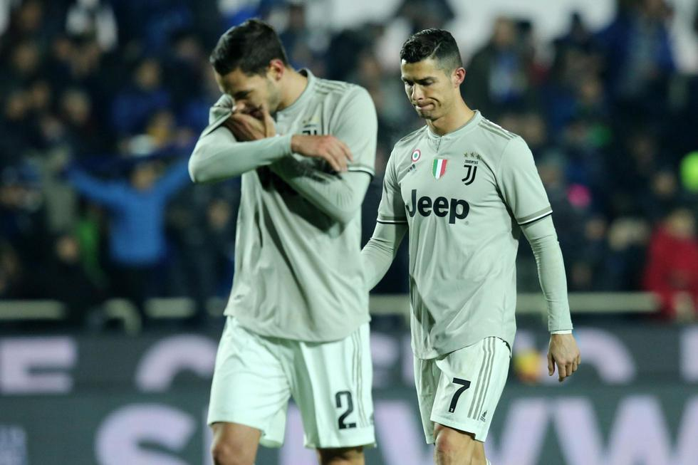 Juventus quedó fuera de la Copa Italia tras perder 3-0 ante Atalanta. (EFE)