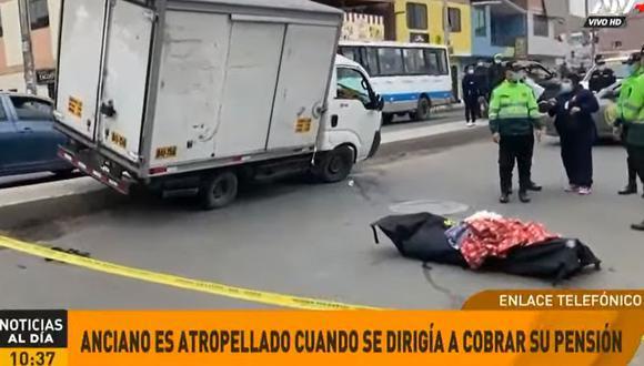 Los policías que llegaron al lugar intervinieron al conductor, identificado como Rula Mamani, y lo trasladaron a la comisaría para ser sometido a diversos exámenes. (Foto: ATV+)