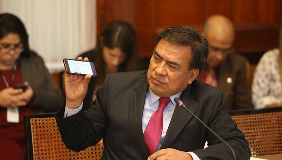 Javier Velásquez Quesquén, del Partido Aprista, es investigado por el caso Los Temerarios del Crimen. (Foto: Congreso de la República)