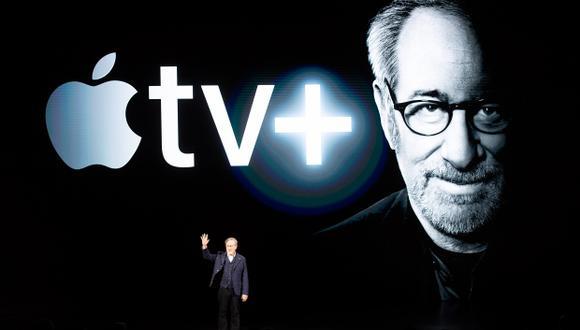 El director Steven Spielberg participó durante un evento de lanzamiento de Apple tv + en la sede de Apple. (Foto: AFP)
