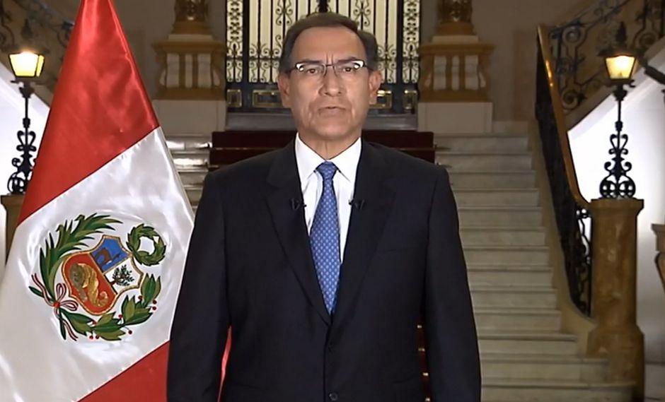 Martin Vizcarra dando el mensaje a la nación el 16 de septiembre del 2018 donde anunció la Cuestión de confianza (Foto: Presidencia Perú)
