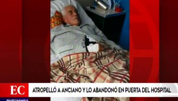 Abandonan a anciano en hospital de Jesús María. (Captura de video)
