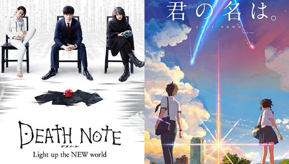 Cine peruano estrenará las películas de 'Death Note' y 'Your Name' (Composición)
