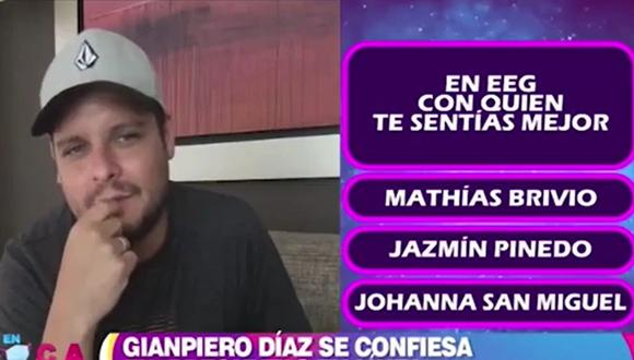 """Gian Piero Díaz, conductor de """"Esto es guerra"""", habló sobre su trabajo al lado de Jazmín Pinedo, Mathías Brivio y Johanna San Miguel. (Foto: Captura de video)"""