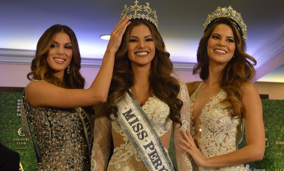 Iris Mittenaere, Miss Universo 2016, coronó a Priscila Howard como la nueva Miss Perú. (Créditos: Sophie Victorio)