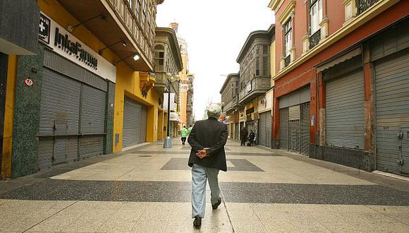 Centro capitalino sin acceso. (Perú21)