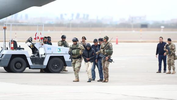 """Esta tarde llegó a Lima uno de los mandos del grupo terrorista Sendero Luminoso, Hugo Sixto Campos Córdova, conocido como """"Julio Chapo"""". (Foto: Giancarlo Ávila/ GEC)"""