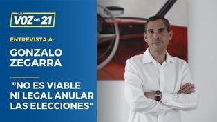 """Gonzalo Zegarra: """"No es viable ni legal anular las elecciones"""""""