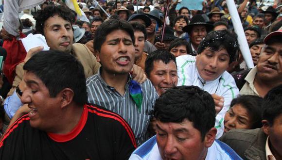 Protestas que, en 2011, encabezó Adurivi contra la minera Santa Ana dejaron más de 10 millones de soles en pérdidas. (C. Urra)