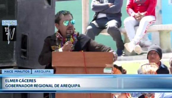 """Elmer Cáceres Llica enfatizó que """"no tiene sentido apresurar las elecciones presidenciales"""". (Canal N)"""