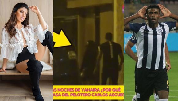 """Yahaira Plasencia niega conocer al futbolista Carlos Ascues tras imágenes de """"Amor y Fuego"""". (Foto: @yahairaplasencia/Willax TV/@carlos.ascues)."""