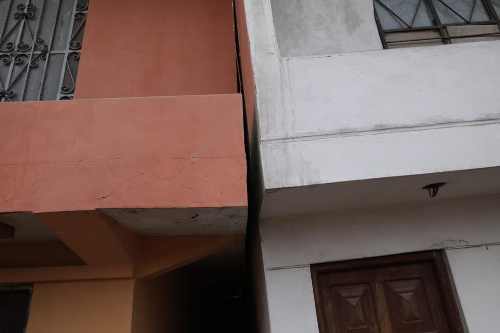 Viviendas de material noble están a punto de colapsar tras el impacto por el sismo de magnitud 6. (Anthony Niño de Guzmán/GEC)