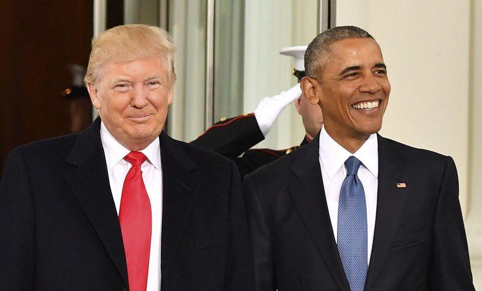 Donald Trump, el día que recibió la presidencia de Estados Unidos, con el saliente mandatario Barack Obama. (Foto: EFE/archivo)