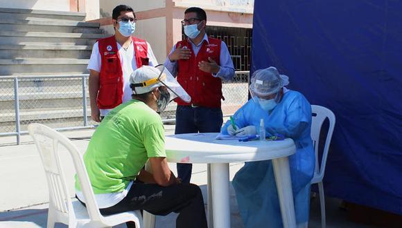 Piura: aplicaron pruebas rápidas a pobladores de Huancabamba por el COVID-19 (Foto difusión).
