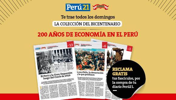 Este domingo 21 de febrero reclama la décimotercera entrega de la 'Colección del Bicentenario: 200 años de Economía en el Perú' en todos los kioscos y de forma gratuita.