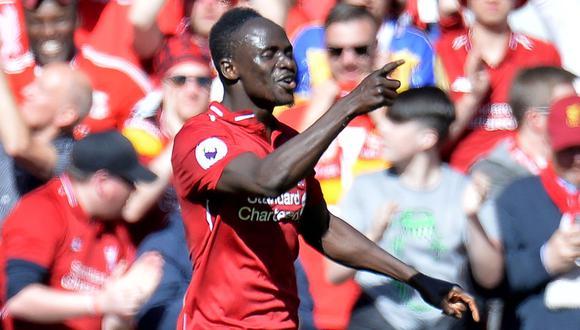 Sadio Mane marcó 26 goles esta temporada entre Premier League y Champions League con Liverpool. (Foto: EFE)