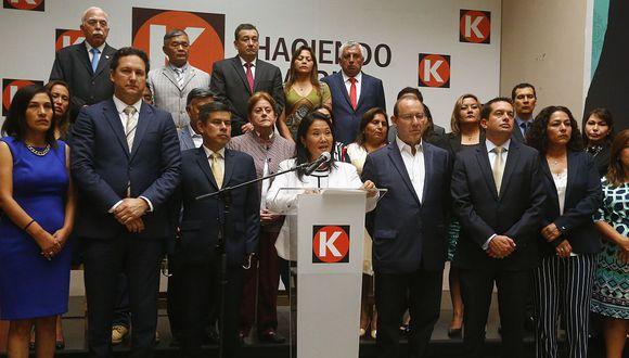 Daniel Salaverry, Miguel Torres, Cecilia Chacón y Rosa Bartra son las opciones de Fuerza Popular. (USI)