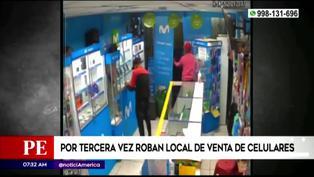 Roban por tercera vez local de venta de celulares en San Juan de Lurigancho