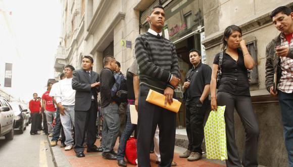 El aumento de la tasa de desocupación en el Perú significó el desempleo de uno 70 mil trabajadores. (USI)