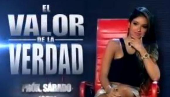 Shirley Arica se someterá al polígrafo de 'El Valor de la Verdad'. (Captura de YouTube)