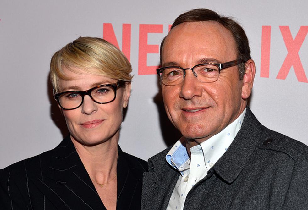 Robin Wright y Kevin Spacey eran los protagonistas de 'House of Cards'. (Getty)
