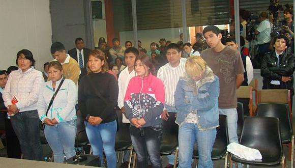 Procesados escucharon fallo de la magistrada Corina Trujillo.  (Difusión)