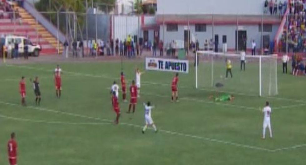 Ever Chávez aumentó la ventaja de Ayacucho FC sobre Universitario. (Captura: Gol Perú)